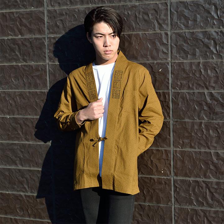 Short coat embroidery shirt (彩綾柄)