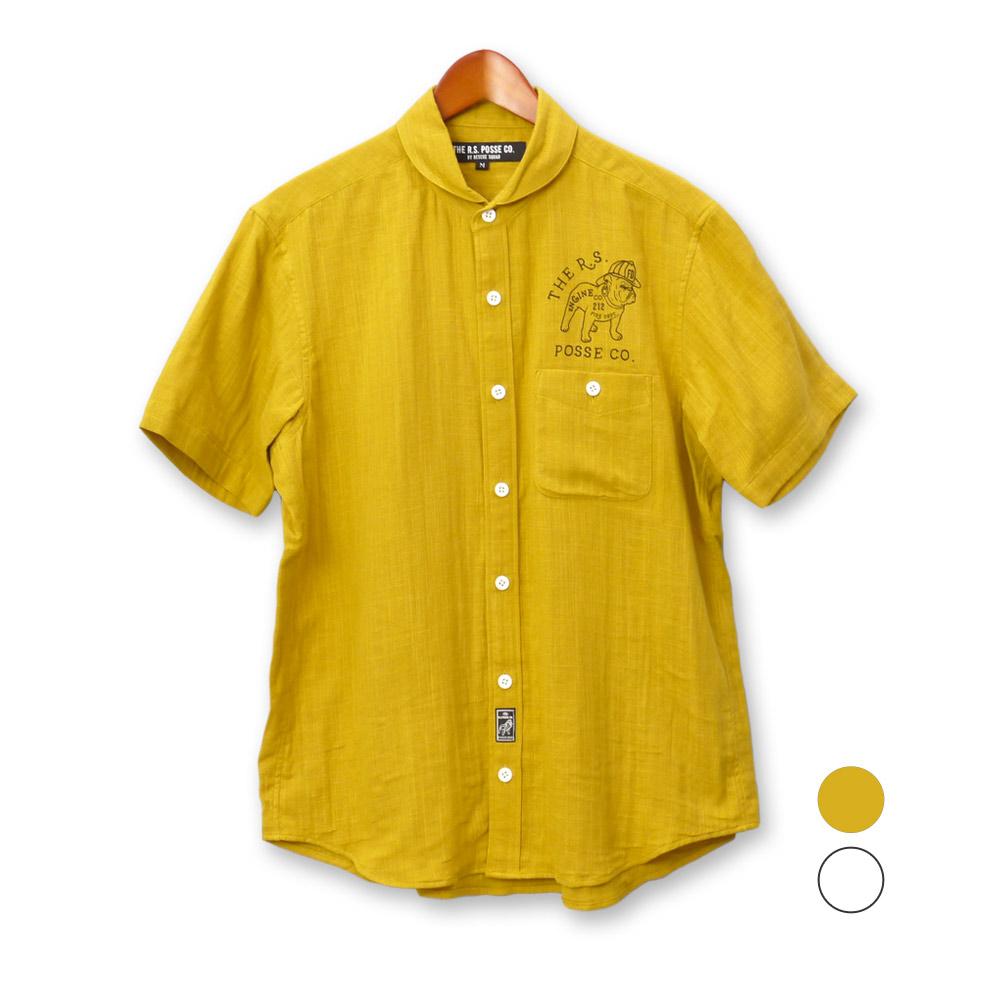 TPC Wガーゼショールカラーシャツ, 安達郡:e84a087d --- homeagent.jp