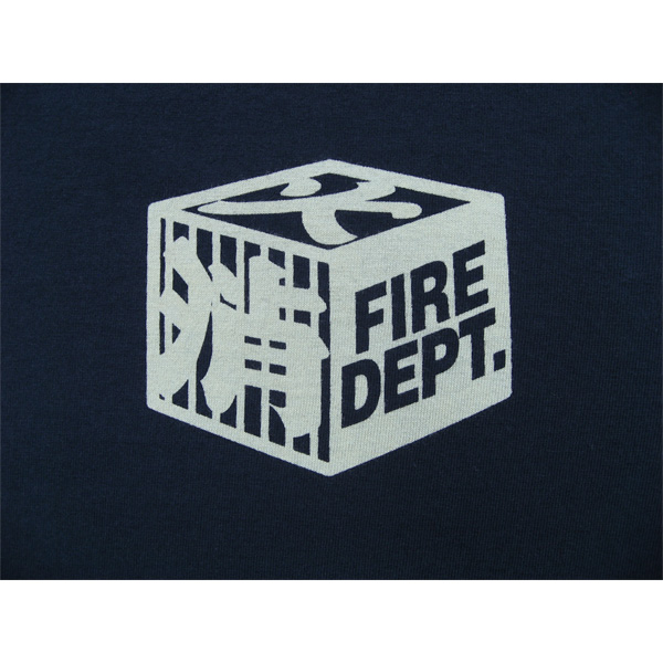 Discharge dyeing, fire fighter long T-shirt type2