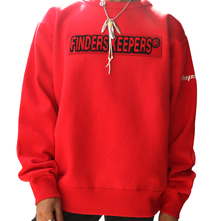FINDERS KEEPERS ファインダーズキーパーズ FK-CHENILLE LOGO CREWNECK 40831202 送料無料