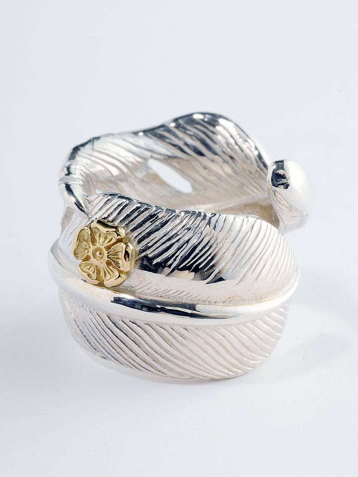 New feather ring GP rose (regular) TADY KING SV accessories