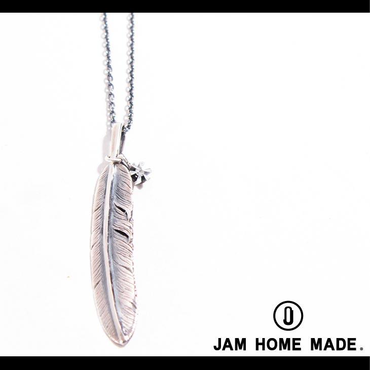 【JAM HOME MADE(ジャムホームメイド)】フェザー&ダイヤモンドネックレスM