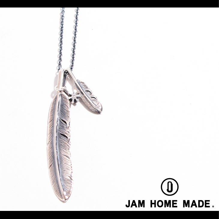 【JAM HOME MADE(ジャムホームメイド)】ダブルフェザー&ダイヤモンドネックレス