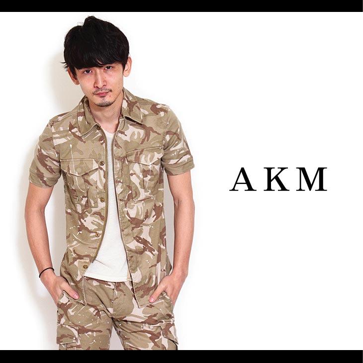 上品な 【AKM】painted original Summer,CRIMIE,EGO stretch jacket cotton S combat/S combat army 163 jacket 半そでシャツジャケット:CAMBIO, アンプルール VERY店:c356b837 --- nagari.or.id