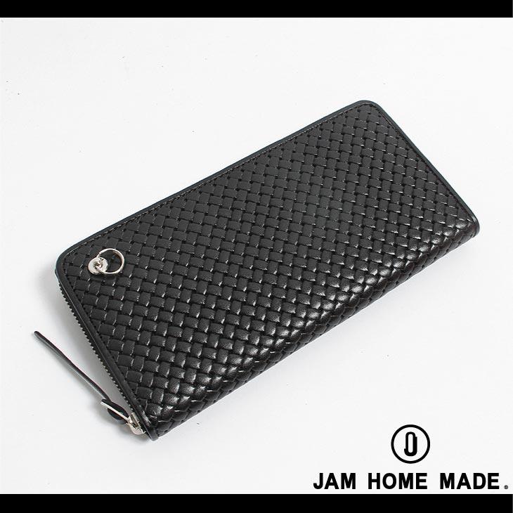 JHM JAM HOME MADE × NUMBER(N)INE ZIP 編込みジップロングウォレット/ブラックFree/