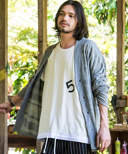 【glamb(グラム)】GB17SM-MN05-Long sleeves cardigan ロングスリーヴカーディガン