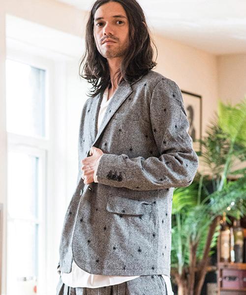 【glamb(グラム)】GB17WT-MN11-Tweed tailored JKT-ツイードテーラードジャケット-