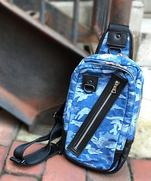 【DECADE(ディケイド)】【予約販売ご注文から1週間後出荷】DCD-00971-Camo JQ Denim Body Bag バッグ