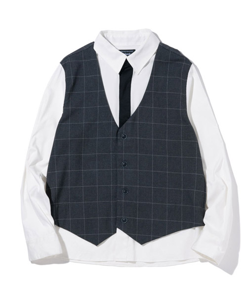 【glamb(グラム)】GB17AT-SH06-Crea fake layered SH-クレアフェイクレイヤードシャツ