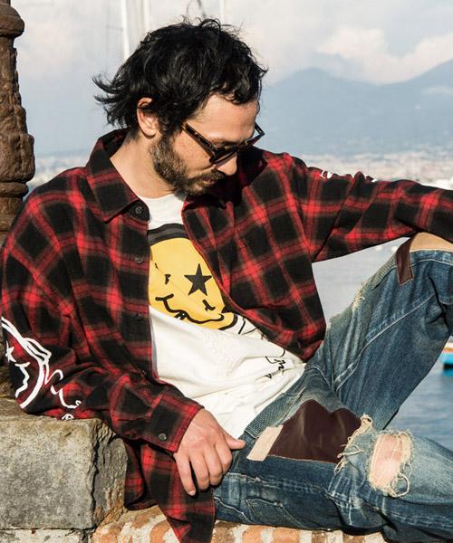 【glamb(グラム)】GB17AT-SH07-NYCTOPHILIA check SH-ニクトフィリアチェックシャツ