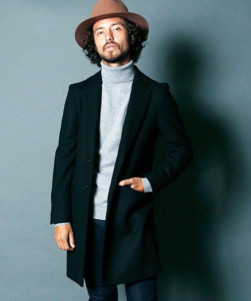 【Magine(マージン)】1734-25-WOOL-CASHMERE SINGLE CHESTER FIELD COAT コート