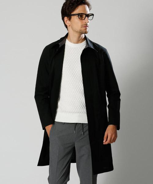 【wjk】1825 cf41i-stain collar coat コート
