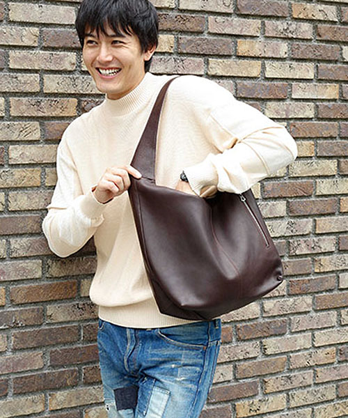 【MROLIVE(ミスターオリーブ)】ME672-WATER PROOF WASHABLE LEATHER -MIDDLE SIZE ECO TOTE BAG バッグ