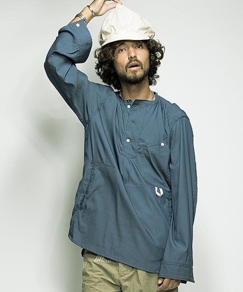 【SEVESKIG(セヴシグ)】-SH-SV-HS-1002-SMOCKCUTTINGSHIRTシャツ