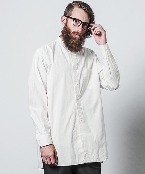 【CHORD NUMBER EIGHT(コードナンバーエイト)】N8M1H1-SH05-LONG SHIRT-スタンドカラーロングシャツ