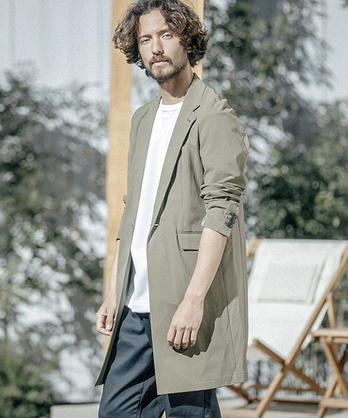 【ANGENEHM(アンゲネーム)】ANG3801-4Way Stretch Chester Field Coat コート
