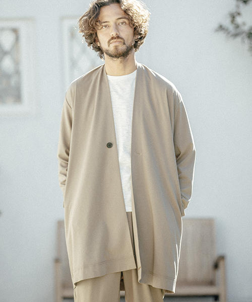 【ANGENEHM(アンゲネーム)】ANG3802-Rough Gown Coat コート