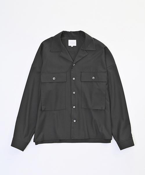 【VICTIM(ヴィクティム)】VTM-18-S-008-MILITARY WIDE SHIRTS シャツ