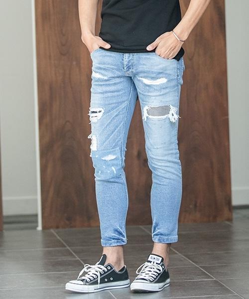【wjk】5823dj18zi-CAMBIO別注 wjk Tight Knit Denim Pants パンツ