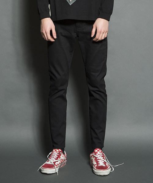【SEVESKIG(セヴシグ)】EXTRA STRETCH SKINNY BLACK PANTS パンツ(PT-SV-HA-1010)