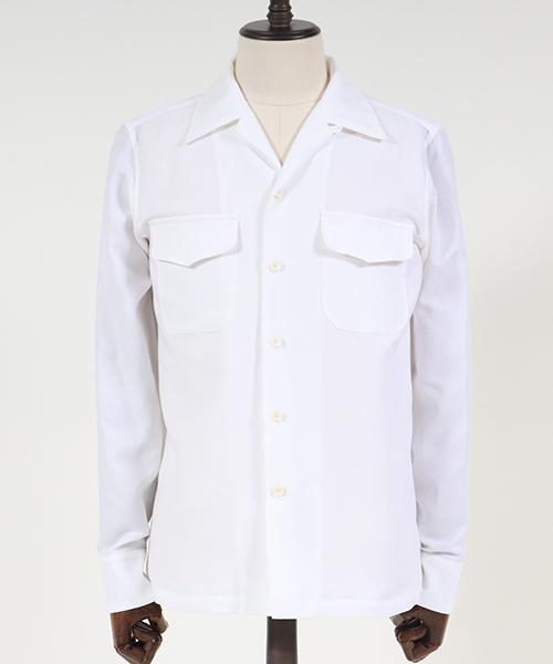 AKM SEAL限定商品 L-S 50S - ダブルガーゼ S081-CTN163 上品 オープンカラーシャツ