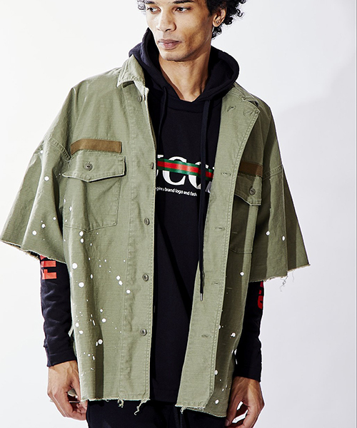 【attack the mind 7】BIG ARMY SHIRT シャツ(ATMD011-CP01)