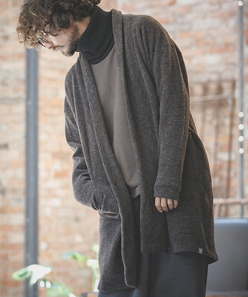 【ANGENEHM(アンゲネーム)】Easy Long Knit sew Cardigan カーディガン(MADE IN JAPAN)(CA-053)