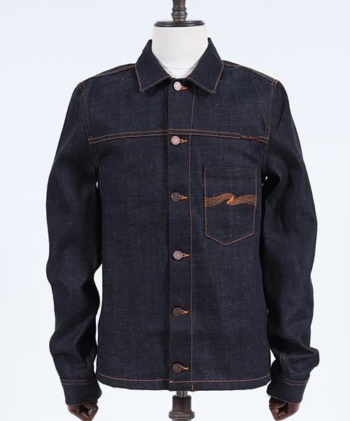 【Nudie Jeans(ヌーディージーンズ)】RONNY DRY ORANGE EMBO ジャケット(160532)