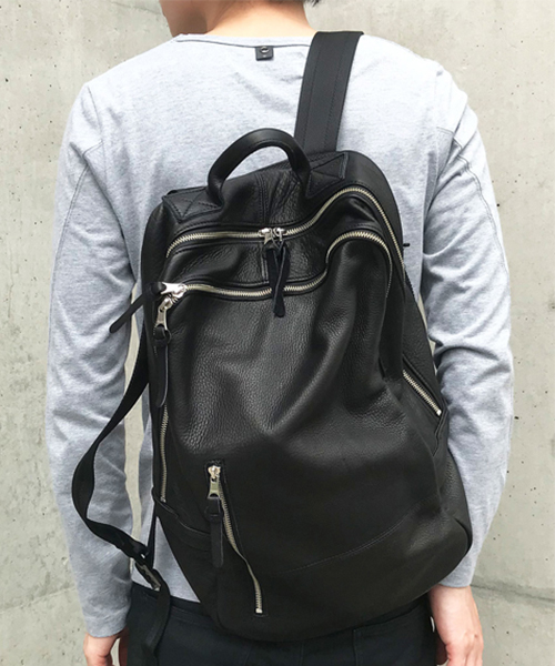 【DECADE(ディケイド)】【予約販売10月上旬~中旬入荷予定】Oiled Cow Leather Back Pack カウレザーバックパック (DCD-01034L)