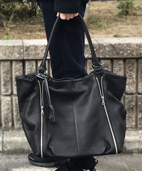 【DECADE(ディケイド)】【予約販売ご注文から1週間後出荷】Oiled Cow Leather Tote Bag レザートートバッグ(DCD-01041)
