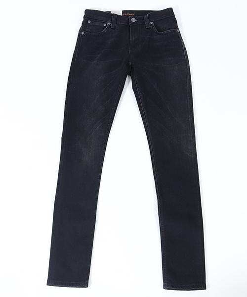 【Nudie Jeans(ヌーディージーンズ)】SKINNY LIN855 BLACK SHADOW デニムパンツ(112666032)