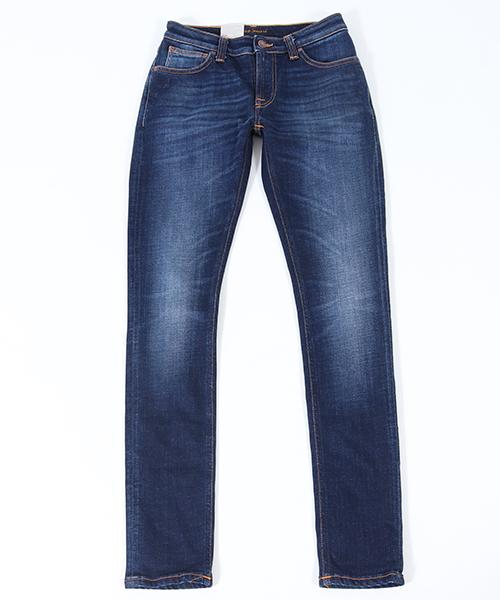 【Nudie Jeans(ヌーディージーンズ)】SKINNY LIN863 DARK DEEP WORN デニムパンツ(112665032)