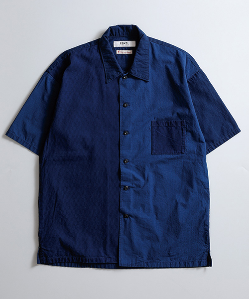 【FDMTL(ファンダメンタル)】DROP SHOULDER INDIGO H-S SHIRT シャツ(FA19-SH22D)