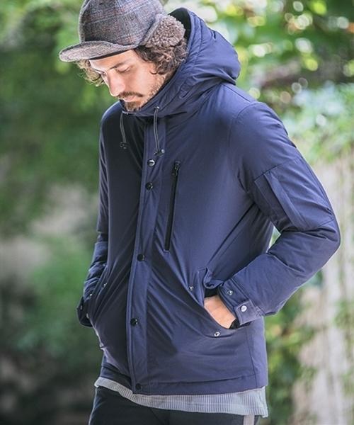 【CAMBIO(カンビオ)】Stretch Nylon Outdoor Down Jacket ジャケット