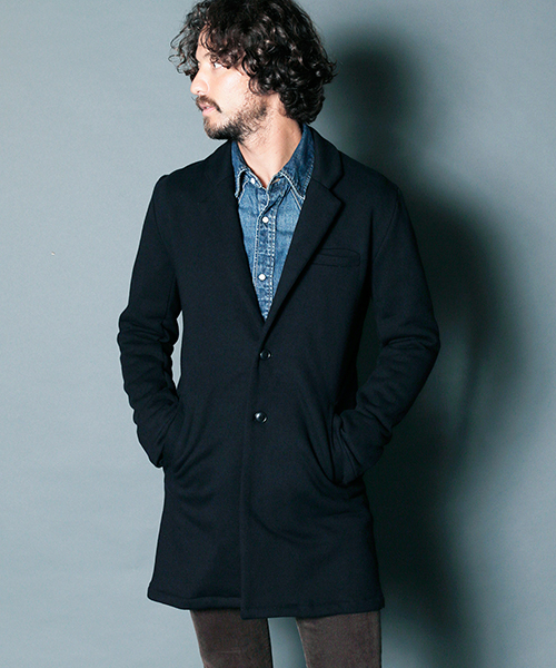 【Magine(マージン)】BACK BRUSHED URAKE SWEAT CHESTER FIELD COAT コート