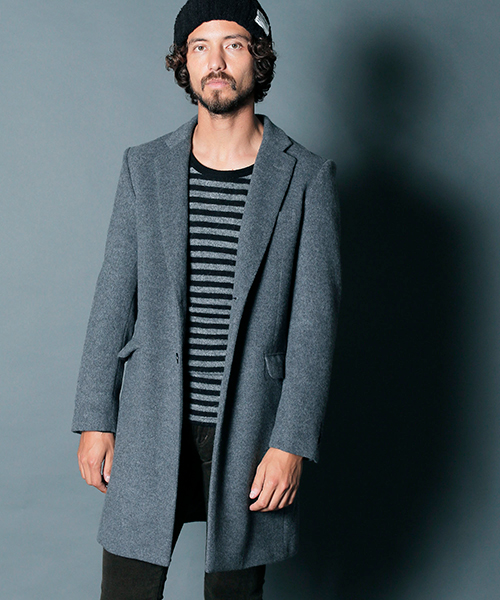 【Magine(マージン)】WOOL-CASHMERE SINGLE CHESTER FIELD COAT チェスターフィールドコート (1834-52)