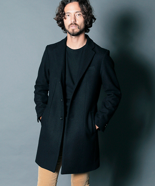 【Magine(マージン)】WOOL MELTON STAND UP S3B CHESTER COAT チェスターフィールドコート(1834-53)