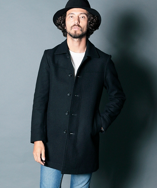 【Magine(マージン)】WOOL MELTON SINGLE COAT シングルコート(1834-55)