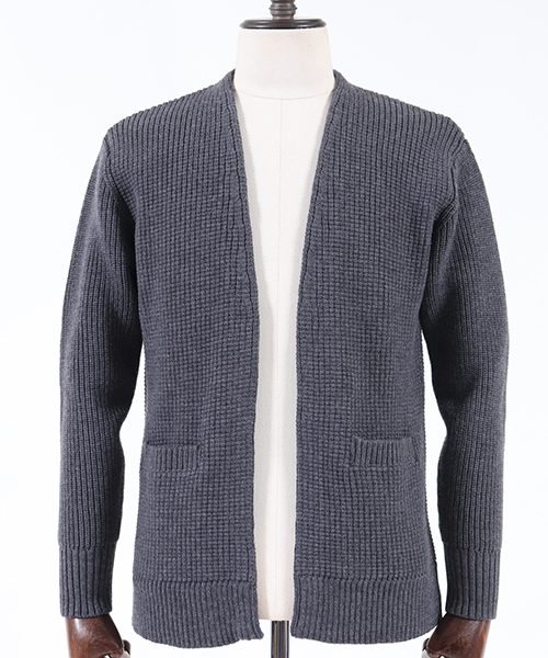 【AKM】HEAVY WAFFLE NO COLLAR JKT ジャケット(K147-WOL006)