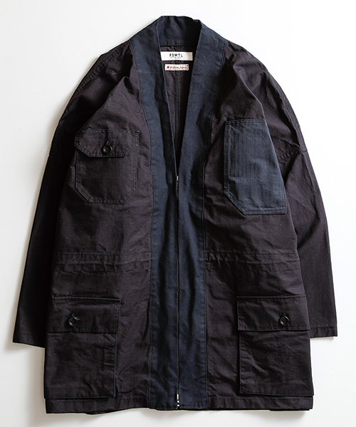 【FDMTL(ファンダメンタル)】HAORI COAT コート(FA19-JK15)