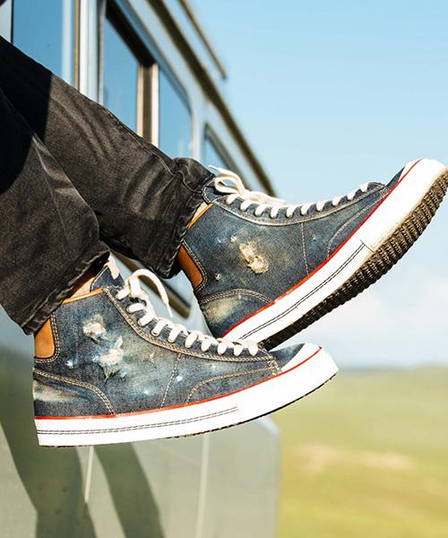 【glamb(グラム)】Khaan denim sneakers-ハーンデニムスニーカー(GB0418-AC11)