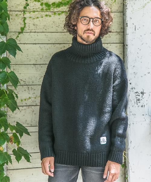 【Smoothy(スムージー)】SMOOTHY×CAMBIO Drop Shoulder Turtle Knit Pullover For Men ニット(SM-CMB-015)