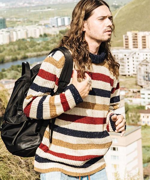 【glamb(グラム)】Falit border knit-ファリットボーダーニット(GB0418-KNT09)