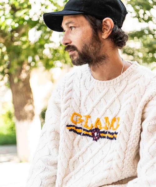 【glamb(グラム)】Karl cable knit-カールケーブルニット(GB0418-KNT11)