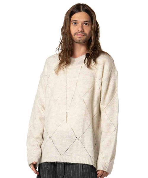 【glamb(グラム)】Cliff knit-クリフニット(GB0418-KNT15)