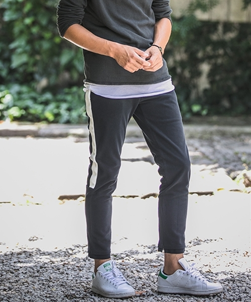 【wjk】CAMBIO別注 wjk Italy Freece Sweat Side Line Pants パンツ(5853mj63)
