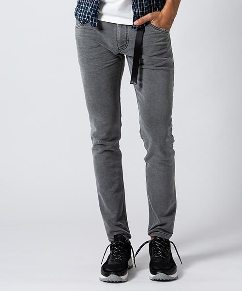 【wjk】long knit-denim pants (used) デニムパンツ(5901 dj23m)