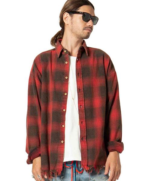 【glamb(グラム)】Burner check SH-バーナーチェックシャツ(GB0418-SH04)
