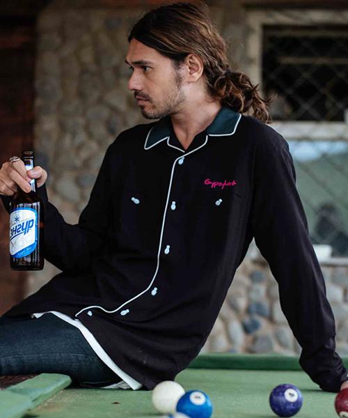 【glamb(グラム)】Earl bowling SH-アールボウリングシャツ(GB0418-SH05)