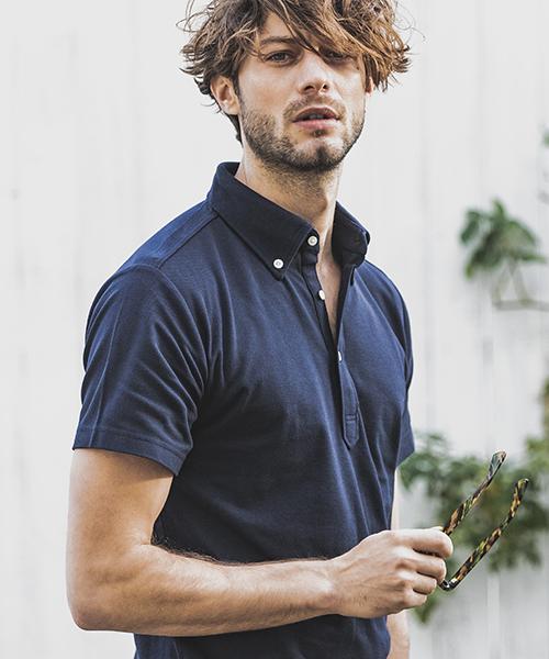 【felkod(フィルコッド)】【予約販売4月中旬~下旬入荷】Minimal Stretch Polo Shirts ポロシャツ(F19S150)